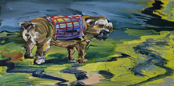 Ilka Meschke - Landschaft mit Hund